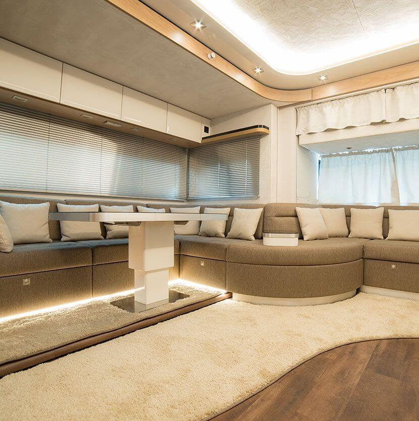Big livingroom  in an exclusive motorhome by eila