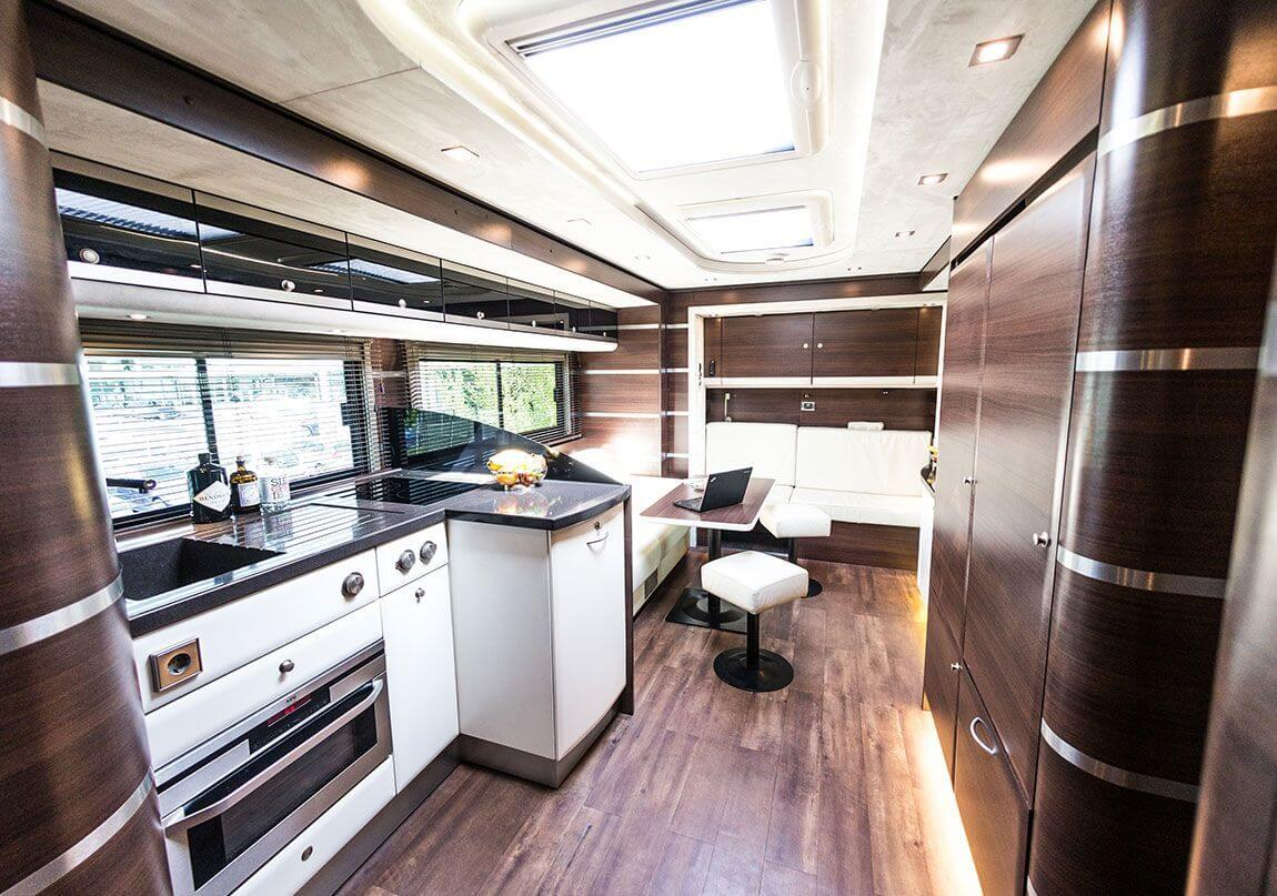 Kitchen  in an exclusive motorhome by eila
