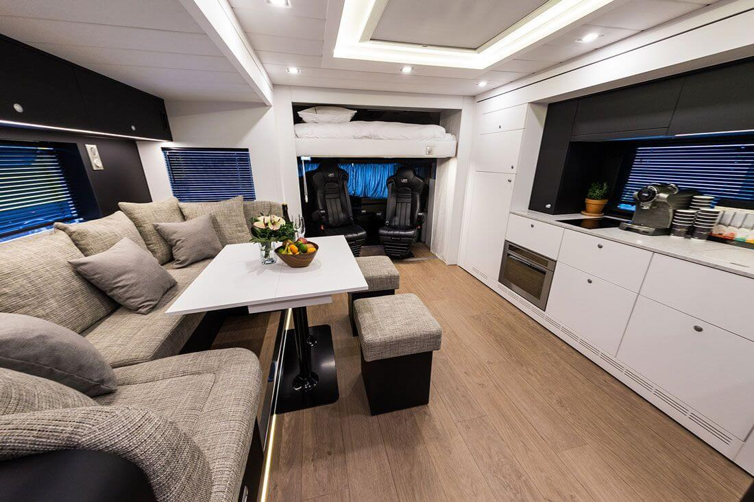 Living room  in an exclusive motorhome by eila