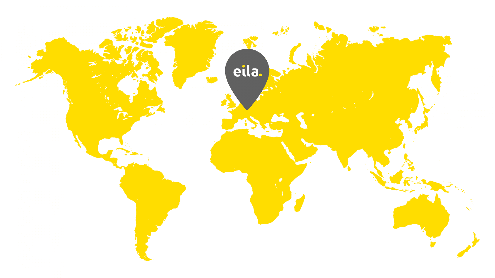 World map with eila logo